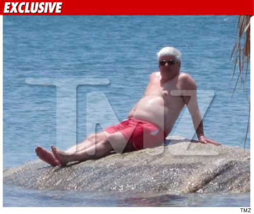 Topless Newt Gingrich — On a Rock, In a Hard Place  Bravo, TMZ. Gingrich relaxes in Mykonos days before his campaign exoplodes. UPDATE: Oops, Gingrich's team denied that the above photo was of the GOP hopeful, and TMZ has deleted the photo. That's kind of disappointing.