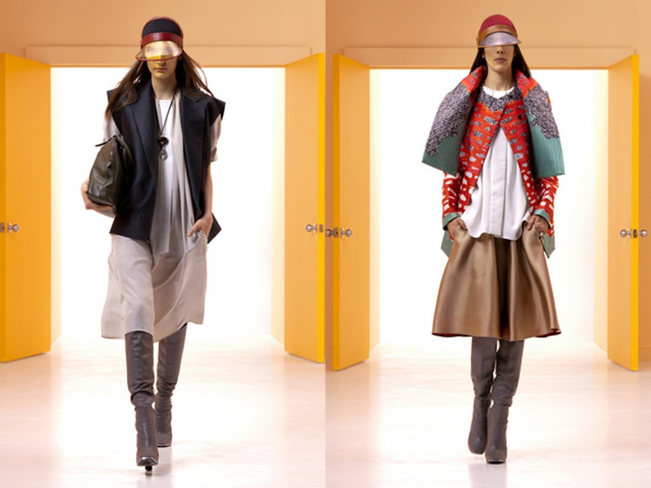 Balenciaga Resort 2012 My two favorite looks from the collection. Perfection. I love how both of these stylings seem like they both originated from the street, but they still carry such sophistication and design. Perfect.