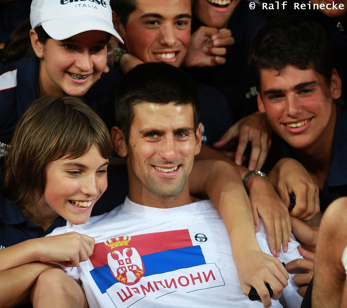 novakdjokovicfanclub:  Great pic of Nole during Madrid Open! I love his smile! :)
