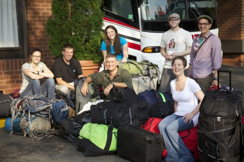 Peace Corps/Peru Trainees prepare to depart for service from Washington, DC - June 10, 2011
