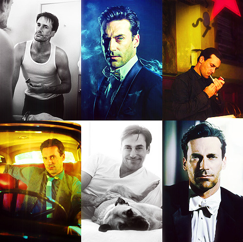 Favourite 6 Pictures; Jon Hamm (Requested by @ovariesbeforebrovaries)