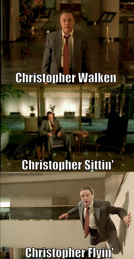 Christopher Walken' epic4chan:  Christopher Walken, Sittin, Flyin  画