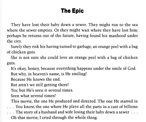 "— Russell Edson, ""The Epic"", The Clam Theater (1973)"
