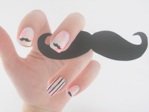 Those nails mustache you a question