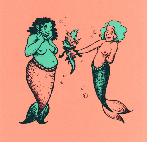 pigeonbits:  Screenprints of mythological lesbians!  I want to do one or two more prints like this, and am TOOOOTALLY taking suggestions. If you desire to own one of these prints (bless your heart!) they are $5 and come with all of my love for free.  http://www.etsy.com/shop/melgillman