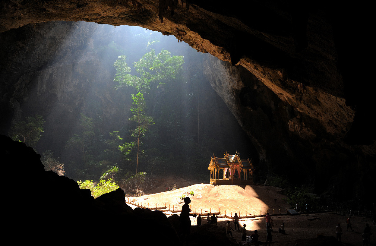 Scenes From Underground  Tourists visit the Kuha Karuhas pavilion located inside the Phraya Nakhon cave, in the Khao Sam Roi Yot national park, some 300 km south of Bangkok, Thailand, on December 5, 2010. The pavillon was built in 1890 on the occasion of a visit to the cave by King Chulalongkorn, the grand-father of current King Bhumibol Adulyadej. [Christophe Archambault/AFP/Getty Images]  See more incredible photos at In Focus