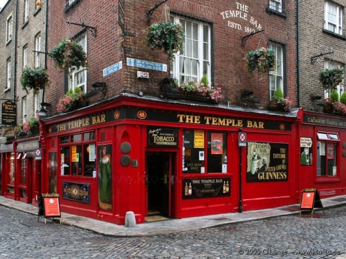 The Temple Bar, a pub in Dublin, Ireland