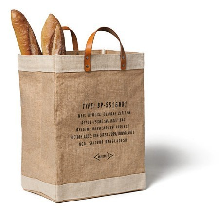 "A nice market bag for a good cause. Found on Apolis. Apolis, which translates as ""global citizen,"" is a living and    breathing social enterprise  that equips and empowers people through    opportunity instead of charity.  Apolis co-creates products with    manufacturers and directly allows the market to determine the future of    each item we produce. It is a hands-on model to provide people access    to opportunity. We call it ""advocacy through industry."""