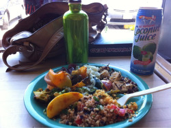 Om nom nom nom. :) eatin lunch at whole foods today…