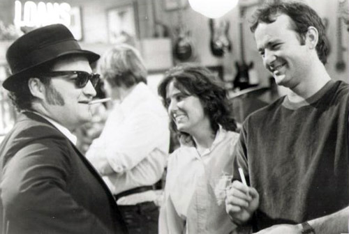 John Belushi and Bill Murray