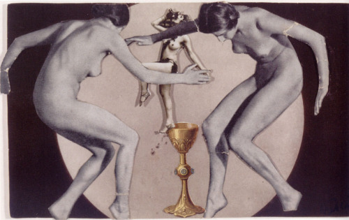 "Untitled / Nudes Dancing around a Gold Chalice, c. 1936 by Nusch Eluard * from ""Angels of Anarchy - Women Artists and Surrealism"" edited by Patricia Allmer [Prestel, 2009]"