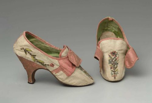 Shoes, 1780-85 Europe, MFA Boston Loving the colors