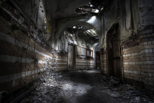 Denbigh Asylum- Wales, UKAbandoned mental asylum.See previous post for story.