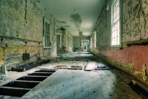 Hellingly Asylum- East Sussex, EnglandAbandoned mental institute.See previous post for details.