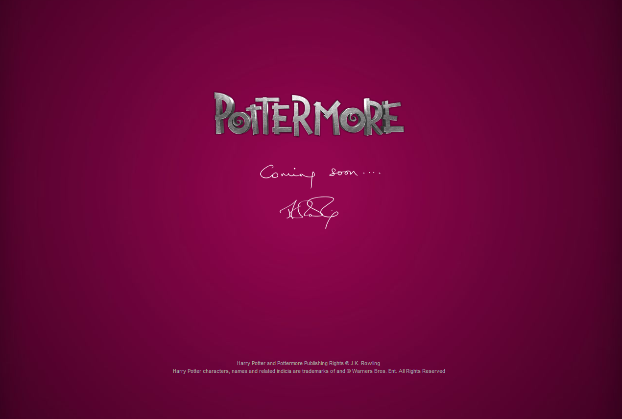 POTTERMORE What Is It For????