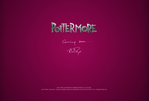 homemadedarkmark:   POTTERMORE  WHAT ARE YOU I HAVE TO KNOW  Can't wait. :)