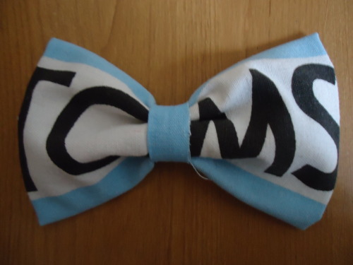 I made a bow out of a Tom's flag! :3
