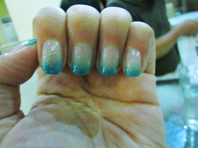 submitted by tristessa  I love my manicure! Gradient nail color done by a professional nail artist.  Super pretty! Check out this tutorial to get this look for yourself!
