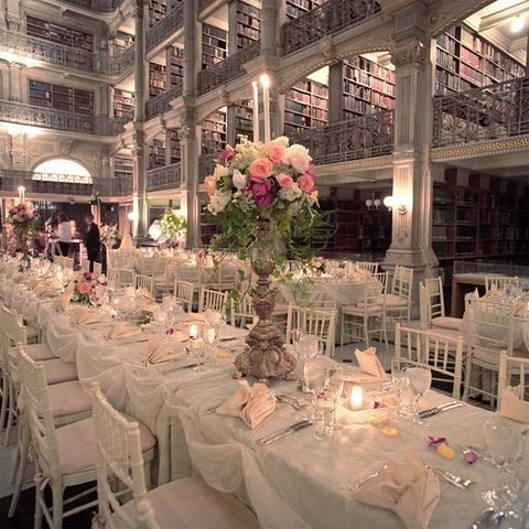 thelifesomewhatartistic:  Peadbody Library - wedding reception… OMG this is perfection.