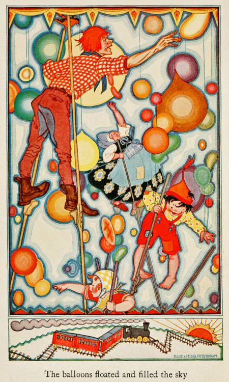 blueruins:  The Balloon Pickers illustrated by Maud and Miska Petersham - 1922