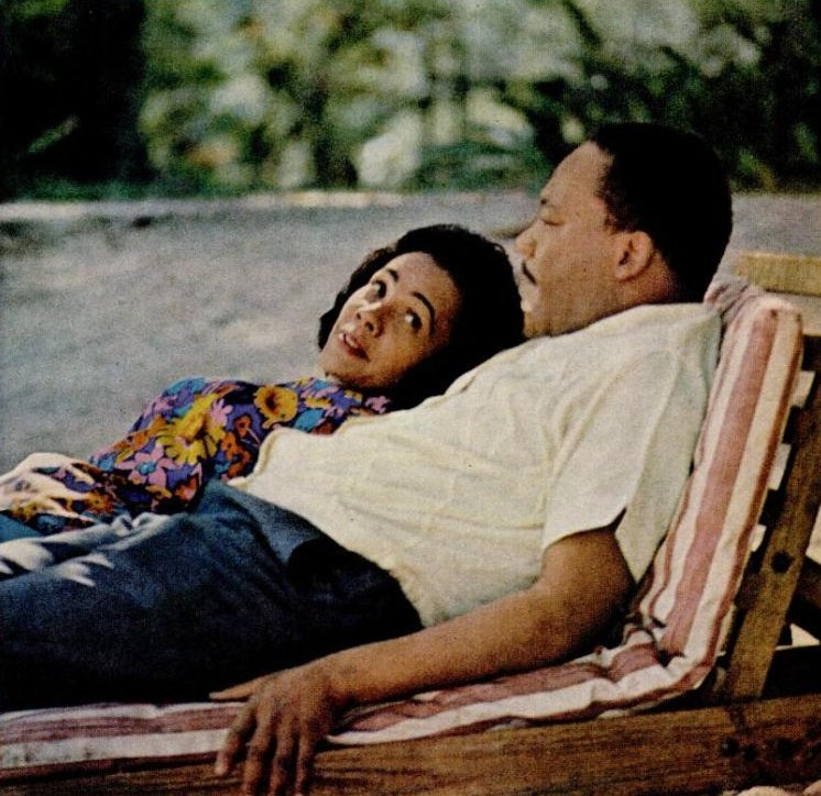 vintageblack2:   Dr. King and Coretta Vacationing