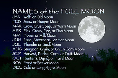 """Did you know each month's full moon has a name? According to the Old Farmer's Almanac, the Native Americans that resided in what is now the northern and eastern United States named the full moons to keep track of the seasons. For example, the Harvest Moon is always the full moon closest to the autumnal equinox. Tonight's June full moon is known as the Strawberry Moon, because it appears near the time of the strawberry harvest."""