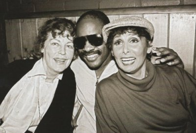 awesomepeoplehangingouttogether:  Ava Gardner, Stevie Wonder and Lena Horne  But does Stevie Wonder know he's hanging out with them?!?!