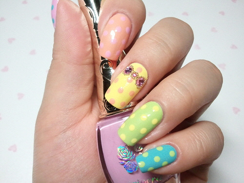 click through for tutorial (in my korean blog) dot nailart
