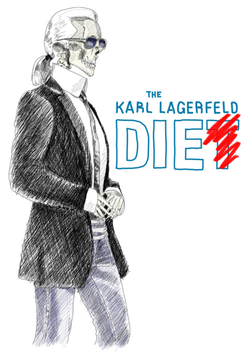 illustratedbyem:  Celebrity of the week: Karl Lagerfeld