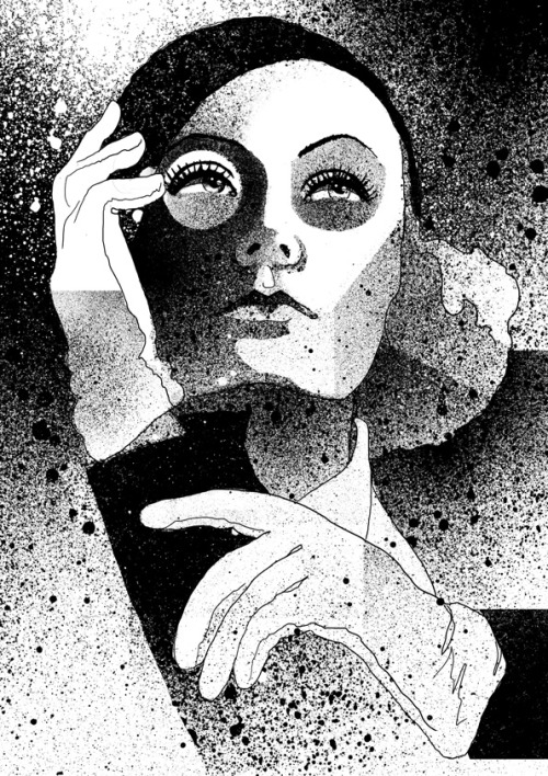 illustratedbyem:  Celebrity of the week: Greta Garbo