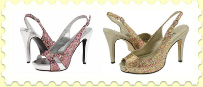 Do you adore the Kate Spade Glitter shoes,  but just don't have the money to drop on glitter shoes right now? Me  neither. If you're like me and obsessed with glittery shoes, check out  these two more affordable options; both of these are multi-colored  glitter, both get great reviews, and both are adorable (and allow you to  still afford groceries for the month!).PS. Check out another Kate Spade vs. affordable shoe comparison!