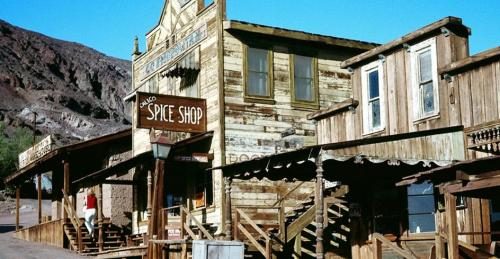 "The abandoned old silver mining ""ghost town"" of Calico, California (via BBC - Travel - Gallery - America's coolest ghost towns)"