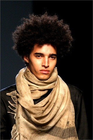 Luis Borges for Jean Paul Gaultier S/S 11 Paris
