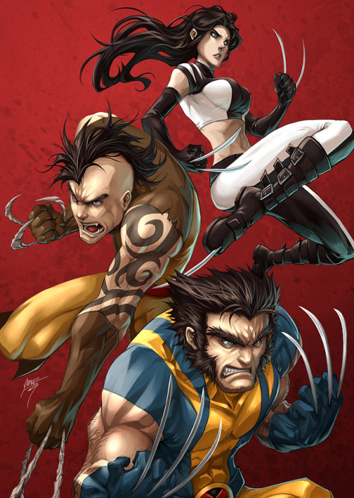 Wolverine and his clawsome relatives team up to deal out massive amounts of pain in Drake Tsui's new Marvel illustration. Related Rampages: Dark Knights | Versus (Scott Pilgrim) (More) Claws by Drake Tsui / Kuroi-Tsuki (Facebook) (Twitter)