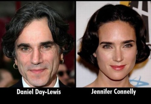 Doppelganger Alert Daniel Day Lewis and Jennifer Connelley
