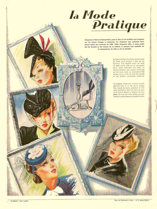 1939 Hats from La Mode Practique
