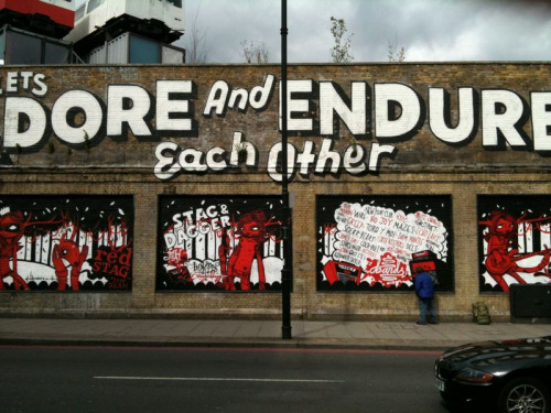 Relationship advice from the streets of Shoreditch - 'Lets Adore And Endure Each Other'