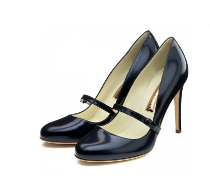 rupert sanderson navy patent leather mary-jane pumps. gimmie.
