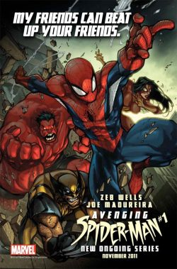 Cover: Avenging Spider-Man #1 Wanna see Spider-Man in action? Here, read this.(First issue: Red Hulk) 321