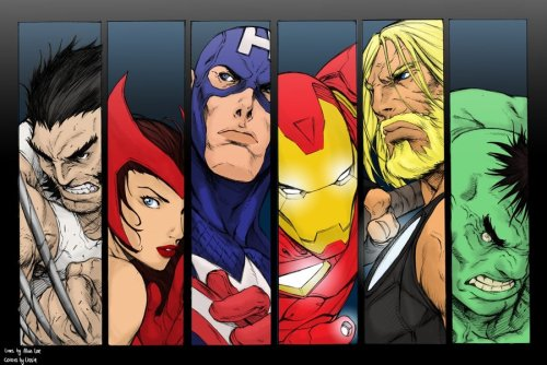 The Avengers by alvinlee and panda-ai (colors) 319