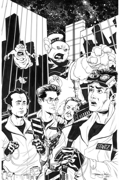 Ghostbusters commission by Jeremy Dale with inks by Kelly Dale.