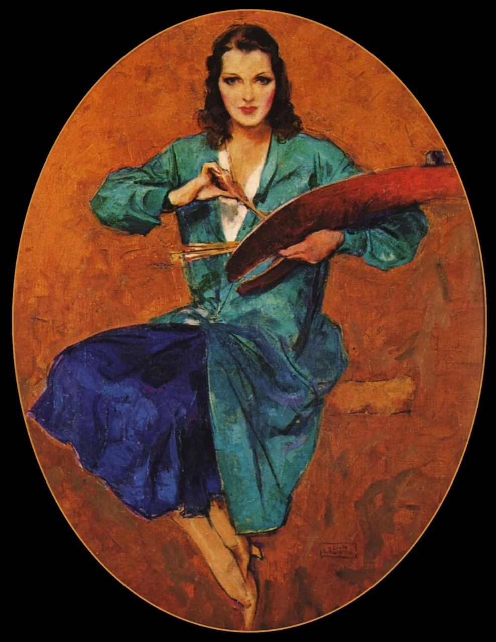 John LaGatta - Woman with Palette - c.1940s - via The Pictorial Arts