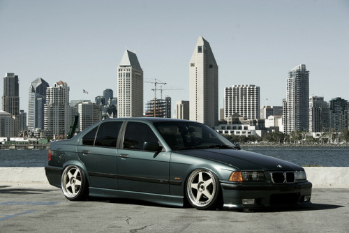e36bmw:  Bagged E36 by Dialed-in Media Group on Flickr. So low.  I haven't seen too many e36s on bags before.