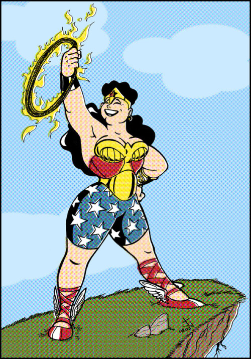 jamesgf:  Since I'm on a Wonder Woman kick lately, let me post this oldie here - I did this chubby Wonder Woman way back in '07, and to this day it's one of my drawings that I'm most fond of. I screwed up on her lasso, but other than that I REALLY like how this piece came out.
