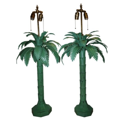 vanityfair:  Beach, please. [1940s French tole lamps, 1stdibs via Hollister Hovey.]  Necessary.