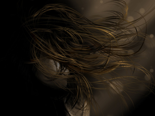 hAIR: Hair made out of strokes in Photoshop.
