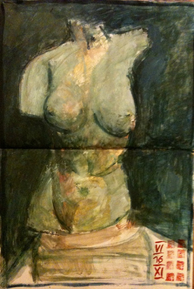torso #painting #followart egg-tempera in XL moleskine 25x38cm @rdenker on Flickr.