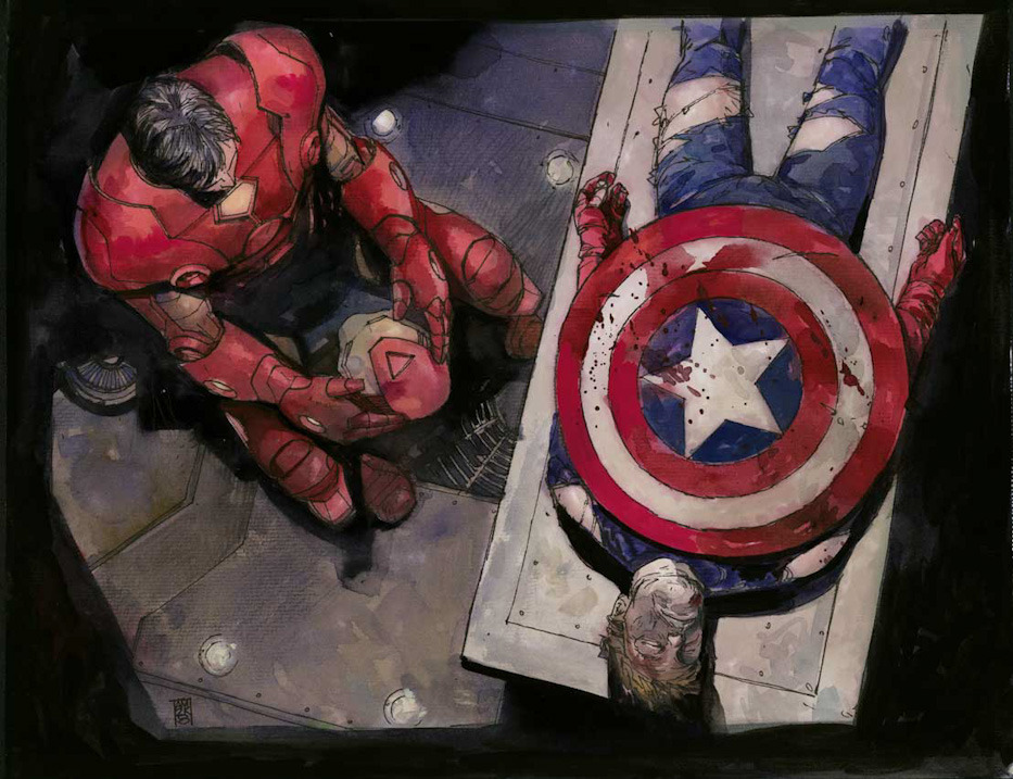Captain America's Death by Alex Maleev
