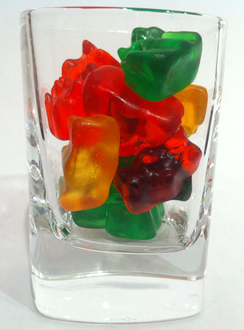 Vodka Gummy Bears (How-To) When e-how.com has an article detailing exactly how to make vodka gummy bears, you know you've gotta try it. According to the directions, the gummies need to chill in a glass full of vodka for five days.