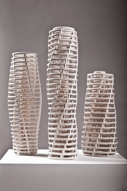 Claire Muckian: Double Walled Lattice I, II, III